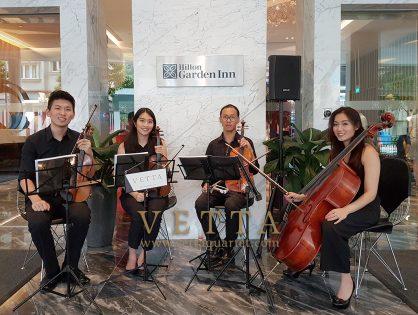 String Quartet for Hilton Garden Inn Singapore's Cocktail function