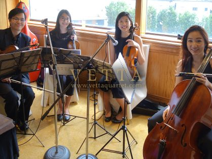 String Quartet for Kenneth's Wedding at Regent Hotel