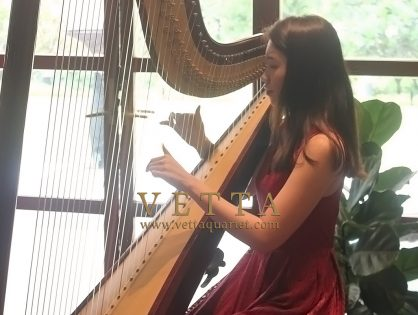 Harpist for Gregory & Shu Ann's Wedding at Sofitel Sentosa