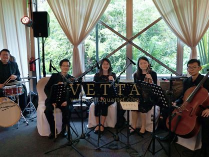 String Quartet and Drums for Terrence's Wedding at Hotel Fort Canning