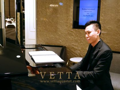 String Quartet and Jazz Piano for Shyuan and Gerrard's Wedding at Shangri-La Hotel