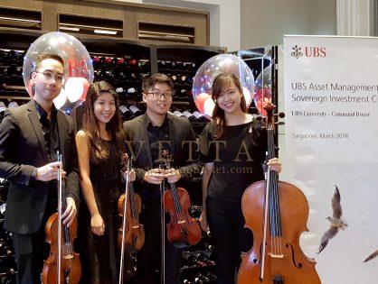 String Quartet for UBS University Event at Flutes, National Museum