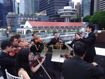 String Ensemble and Quartet for Mark and Felecia's Wedding Solemnization at Monti