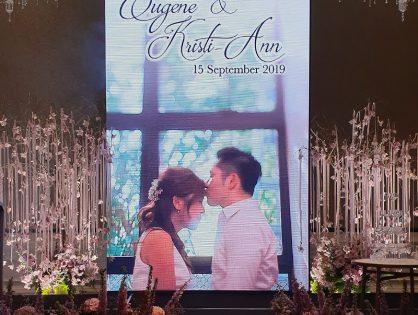 Kristi & Eugene's Wedding at Raffles Hotel, Jubilee Ballroom