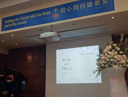 Henry & Tiffany's Wedding at Changi Baptist Church