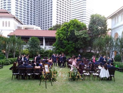 Wedding at The Lawn & The Palm Garden, Raffles Hotel