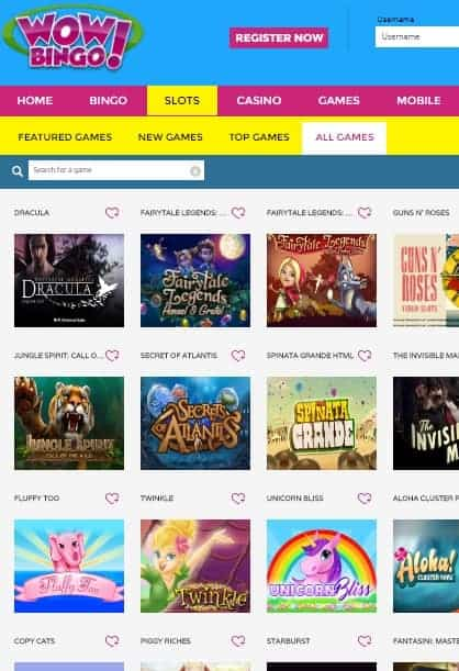 Wow Bingo Casino Review