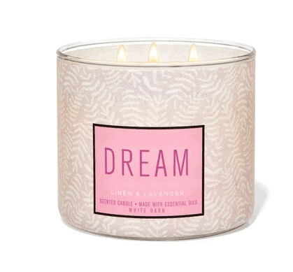 Dream Bath and Body Works candle