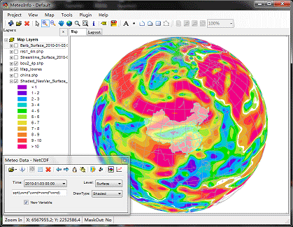 MeteoInfo, a open source tool that combines data visualization with spatial analysis.