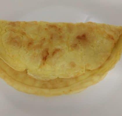 pão de tapioca com queijo na frigideira
