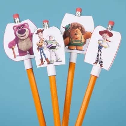 Toy Story Free Printable Pencil Toppers make great party favors for kids!