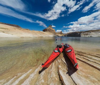 how to plan an overnight kayak trip on Lake Powell