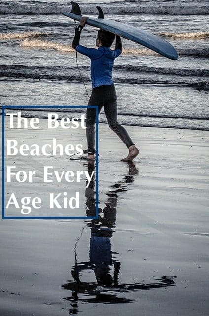 The best destination for a family beach vacation depends on your kids ages and the activities your family likes. Here are 5 ideas for beach vacations with kids, sorted by age. #beach #vacation #kids