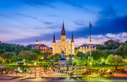 Image of St. Louis Cathedral and Jackson Square