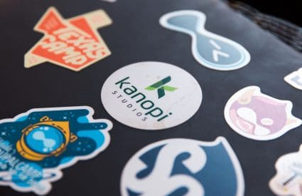Laptop Covered in Stickers