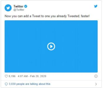 Twitter Makes it Easier to Append Tweets to Other Tweets