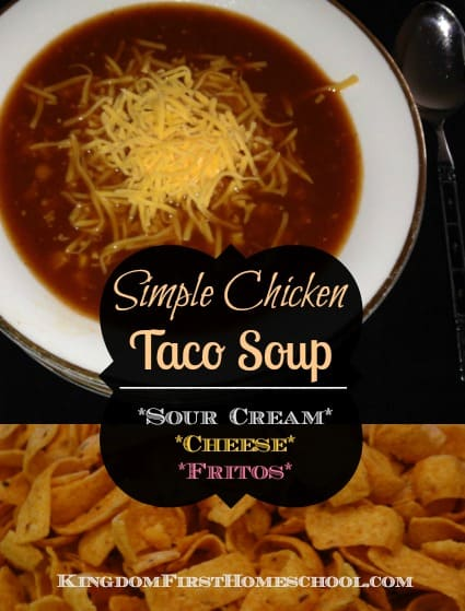 Simple Chicken Taco Soup is now a staple in our pantry most of the time, mainly through the winter months, but I love it so much I make it year round. It also keeps great in the freezer for all you freezer meal mamas.
