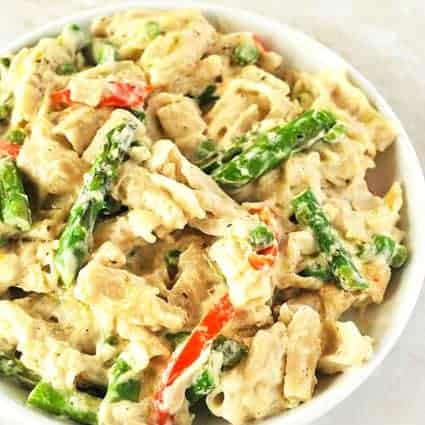 Creamy Vegan Alfredo With Vegetables