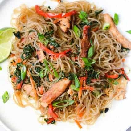 Japchae (Korean Stir Fry Noodles)