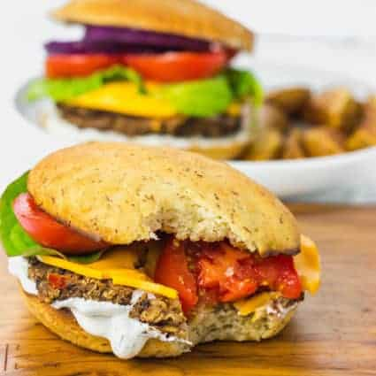 Black Bean Quinoa Burger