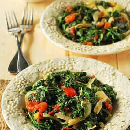 African-Style Braised Kale And Tomatoes