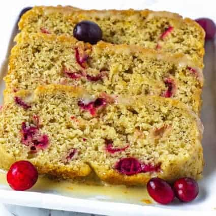 Vegan Cranberry Orange Bread