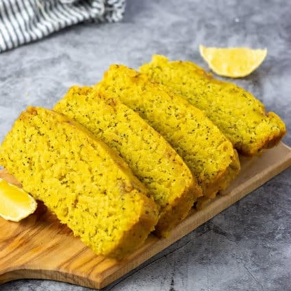 Gluten-Free Vegan Lemon Poppy Seed Bread