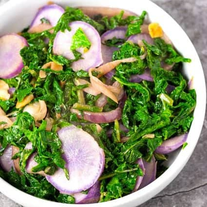Sauteed Radishes and Radish Greens