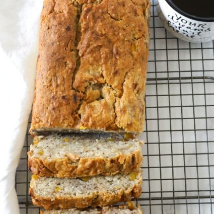 Gluten-Free Vegan Banana Peach Bread