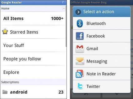 google reader now has android app