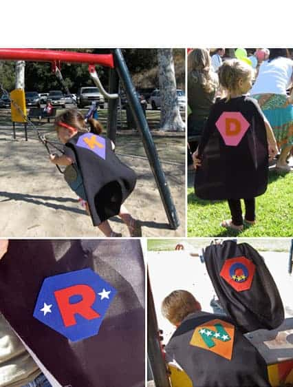 Superhero Birthday Party Ideas, Free Printables and Cape Craft.