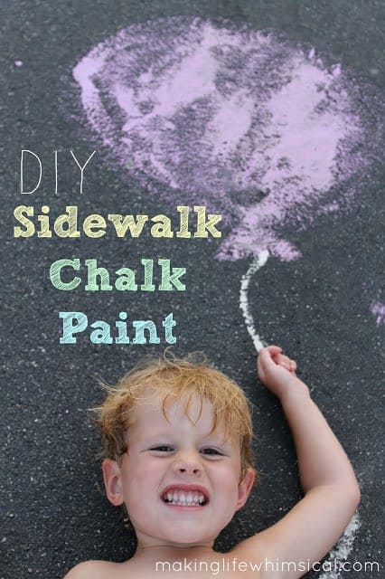 Kids Craft Ideas: DIY Sidewalk Chalk Paint by Making Life Whimsical for #LivingCreative Thursday at Living Locurto