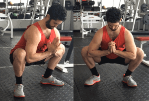 foot placement for squats image