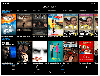image of snagfilms android app