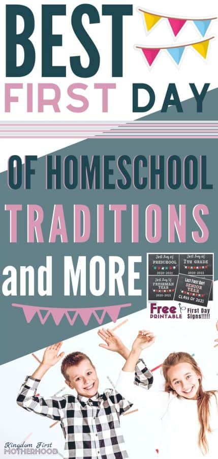 Do you have first day of homeschool traditions? It's never too late to add some first day of homeschool fun. You are going to love this list of the first day of homeschool printables, traditions and activities! You'll find great ideas to start your school year off right and make it memorable for you and your kids.