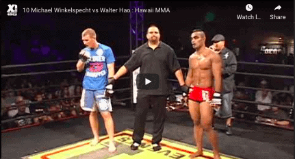 10 Michael Winkelspecht vs Walter Hao : Hawaii MMA