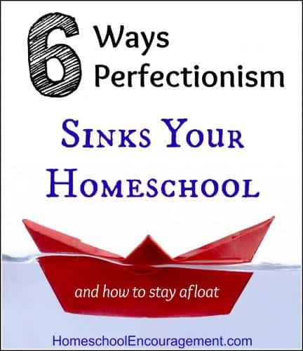 Do you strive for perfectionism? Does it cause you to strugle with your homeschooling? Here are 6 ways to help your homeschool thrive. #homeschool