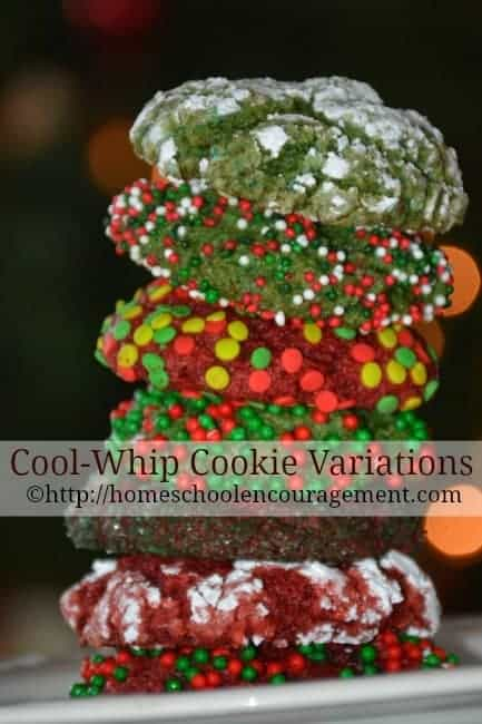 Looking for an easy cookie recipe?  Try these quick, 3 ingredient cool whip cookies that can be made in a variety of flavors.  Included is a FREE printable shopping list and recipe.