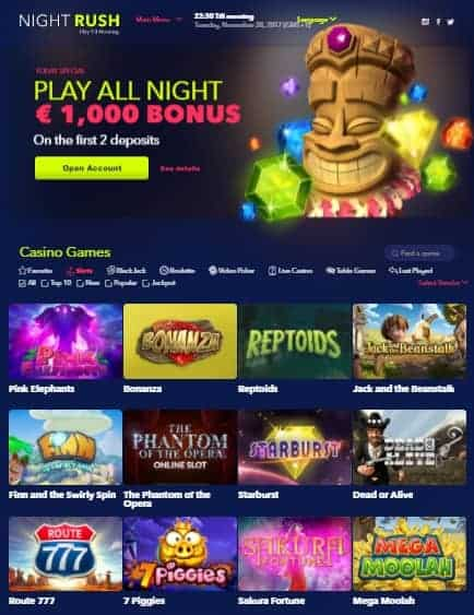 NightRush Casino Online