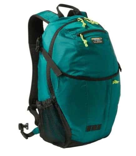 Ll bean's daypack is light, roomy and waterproof, with lots of handy pockets.