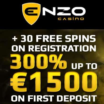 Enzo Casino - 30 Free Spins on Netent Slots - No Deposit Bonus