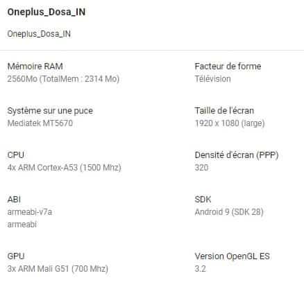 da OnePlus TV
