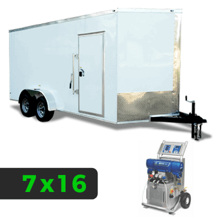 7x16 Spray Foam Rig Package with GRACO E-20 Spray Machine - Starter Package - Spray Foam Insulation Trailers, Equipment and Coating