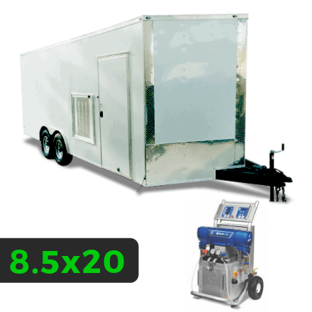 8_5x20 Spray Foam Rig Package with GRACO E-20 Spray Machine - Insulated Rig Package - Spray Foam Insulation Trailers and Equipment