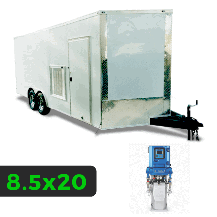 8_5x20 Spray Foam Rig Package with GRACO E-30 Spray Machine - Insulated Rig Package - Spray Foam Insulation Trailers and Equipment