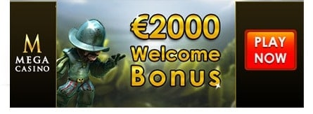 Mega Casino 160 Free Spins and €2000 Gratis on Netent Games