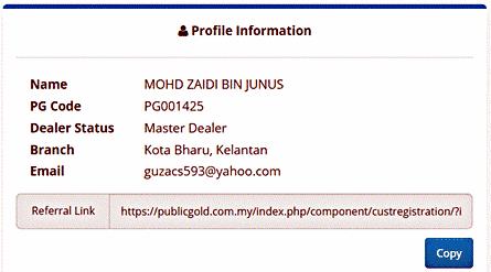 Dealer-Public-Gold-Referral-Link CARA MUDAH JANA PENDAPATAN PASIF BAGI DEALER PUBLIC GOLD