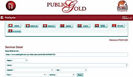 Seminar-Public-Gold-Referral-Link CARA MUDAH JANA PENDAPATAN PASIF BAGI DEALER PUBLIC GOLD
