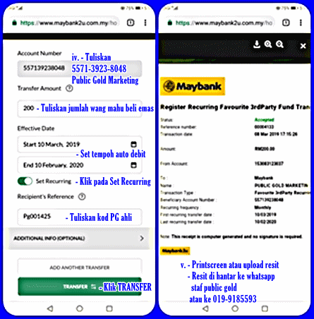 Arahan-Tetap-Bulanan-Maybank2u CARA MUDAH SIMPAN EMAS MODAL KECIL SECARA TETAP