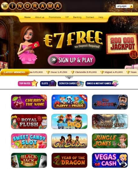 WinoRama Casino Online & Mobile - free scratch cards